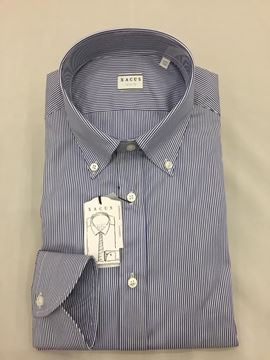 Bild von XACUS  CAMICIA UOMO ART. 11232.003.507 TAILOR FIT RIGHE BLU