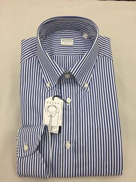 Bild von XACUS  CAMICIA UOMO ART. 11232.015.507 TAILOR FIT RIGHE BLU